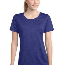 Ladies Heather Poly T-Shirt Thumbnail